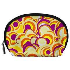 Retro Pattern 1973f Accessory Pouches (large)  by MoreColorsinLife
