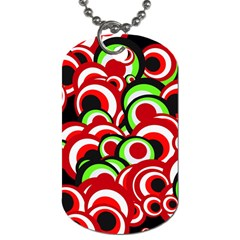 Retro Pattern 1973c Dog Tag (two Sides) by MoreColorsinLife