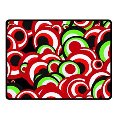Retro Pattern 1973c Fleece Blanket (small) by MoreColorsinLife