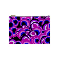 Retro Pattern 1973d Cosmetic Bag (medium)  by MoreColorsinLife