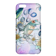 Funny, Cute Frog With Waterlily And Leaves Apple Iphone 6 Plus/6s Plus Hardshell Case by FantasyWorld7