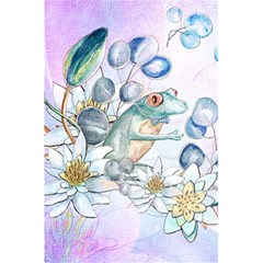 Funny, Cute Frog With Waterlily And Leaves 5 5  X 8 5  Notebooks by FantasyWorld7