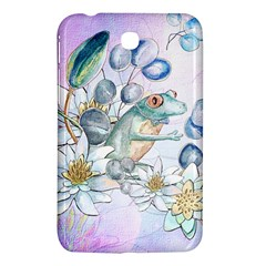 Funny, Cute Frog With Waterlily And Leaves Samsung Galaxy Tab 3 (7 ) P3200 Hardshell Case  by FantasyWorld7