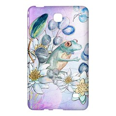 Funny, Cute Frog With Waterlily And Leaves Samsung Galaxy Tab 4 (8 ) Hardshell Case  by FantasyWorld7