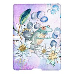 Funny, Cute Frog With Waterlily And Leaves Samsung Galaxy Tab S (10 5 ) Hardshell Case  by FantasyWorld7