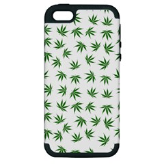 Marijuana Pattern Apple Iphone 5 Hardshell Case (pc+silicone)