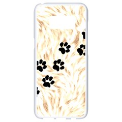 Paws Samsung Galaxy S8 White Seamless Case by stockimagefolio1