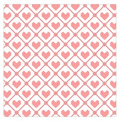 Heart Pattern Large Satin Scarf (square) by stockimagefolio1