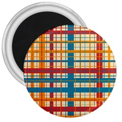 Plaid Pattern 3  Magnets by linceazul