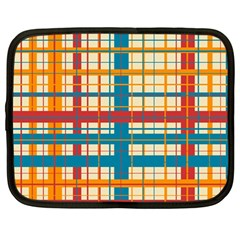 Plaid Pattern Netbook Case (large) by linceazul