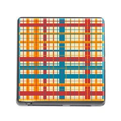 Plaid Pattern Memory Card Reader (square) by linceazul