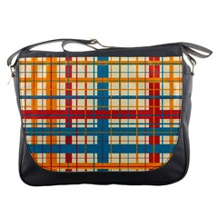Plaid Pattern Messenger Bags by linceazul