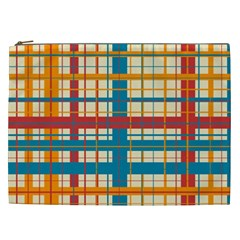 Plaid Pattern Cosmetic Bag (xxl)  by linceazul