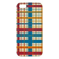 Plaid Pattern Apple Iphone 5 Premium Hardshell Case by linceazul
