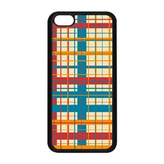 Plaid Pattern Apple Iphone 5c Seamless Case (black) by linceazul