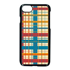 Plaid Pattern Apple Iphone 7 Seamless Case (black) by linceazul