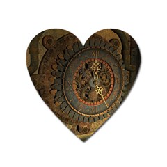 Steampunk, Awesoeme Clock, Rusty Metal Heart Magnet by FantasyWorld7