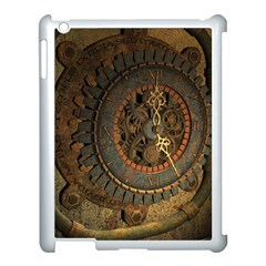 Steampunk, Awesoeme Clock, Rusty Metal Apple Ipad 3/4 Case (white) by FantasyWorld7
