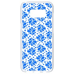 Water Drops Pattern Samsung Galaxy S8 White Seamless Case