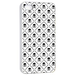 Skull Digital Paper Apple Iphone 4/4s Seamless Case (white) by stockimagefolio1