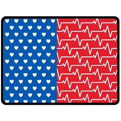 Usa Flag Double Sided Fleece Blanket (large)  by stockimagefolio1