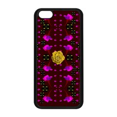 Roses In The Air For Happy Feelings Apple Iphone 5c Seamless Case (black) by pepitasart