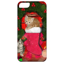 Christmas, Funny Kitten With Gifts Apple Iphone 5 Classic Hardshell Case by FantasyWorld7
