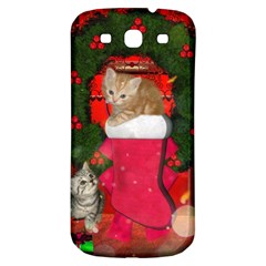 Christmas, Funny Kitten With Gifts Samsung Galaxy S3 S Iii Classic Hardshell Back Case by FantasyWorld7