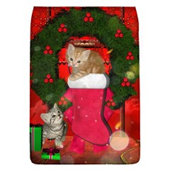 Christmas, Funny Kitten With Gifts Flap Covers (l)  by FantasyWorld7