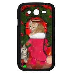 Christmas, Funny Kitten With Gifts Samsung Galaxy Grand Duos I9082 Case (black) by FantasyWorld7