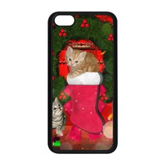 Christmas, Funny Kitten With Gifts Apple Iphone 5c Seamless Case (black) by FantasyWorld7
