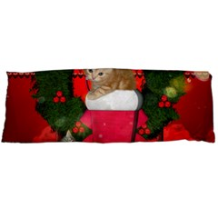 Christmas, Funny Kitten With Gifts Body Pillow Case Dakimakura (two Sides) by FantasyWorld7