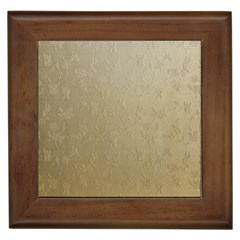 Gold Floral Royal Pattern  Framed Tiles by paulaoliveiradesign