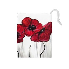 Main Street Poppies Hr Aceo Drawstring Pouches (medium)  by artbyjacquie