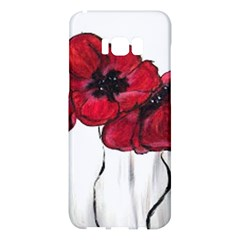 Main Street Poppies Hr Aceo Samsung Galaxy S8 Plus Hardshell Case  by artbyjacquie