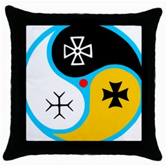 Assianism Symbol Throw Pillow Case (black) by abbeyz71