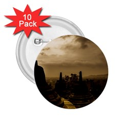 Borobudur Temple Indonesia 2 25  Buttons (10 Pack)  by Nexatart