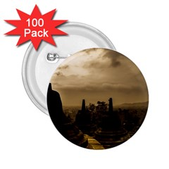 Borobudur Temple Indonesia 2 25  Buttons (100 Pack)