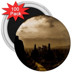 Borobudur Temple Indonesia 3  Magnets (100 Pack) by Nexatart