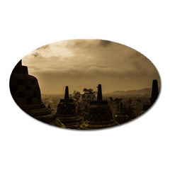 Borobudur Temple Indonesia Oval Magnet by Nexatart