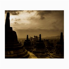Borobudur Temple Indonesia Small Glasses Cloth by Nexatart