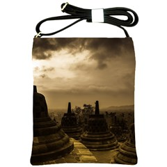 Borobudur Temple Indonesia Shoulder Sling Bags by Nexatart