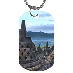 Borobudur Temple  Morning Serenade Dog Tag (two Sides)