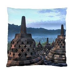 Borobudur Temple  Morning Serenade Standard Cushion Case (two Sides) by Nexatart