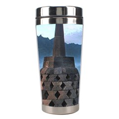 Borobudur Temple  Morning Serenade Stainless Steel Travel Tumblers by Nexatart