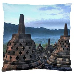 Borobudur Temple  Morning Serenade Standard Flano Cushion Case (two Sides)