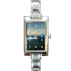 Bromo Caldera De Tenegger  Indonesia Rectangle Italian Charm Watch by Nexatart