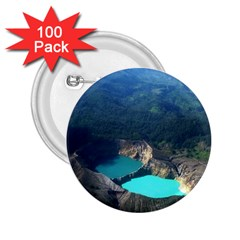 Kelimutu Crater Lakes  Indonesia 2 25  Buttons (100 Pack)