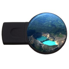 Kelimutu Crater Lakes  Indonesia Usb Flash Drive Round (4 Gb) by Nexatart
