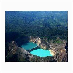 Kelimutu Crater Lakes  Indonesia Small Glasses Cloth (2 Side)